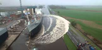 Cool video of ship launching from a Drone