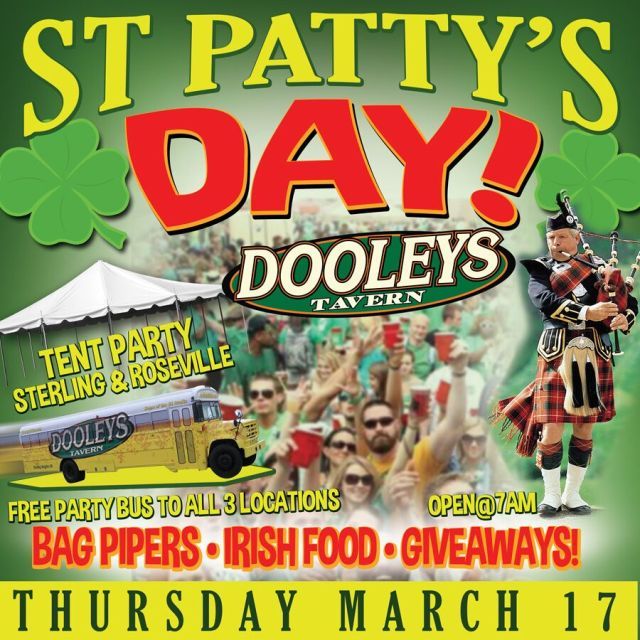 Come and Celebrate St Patty's day with the Crew