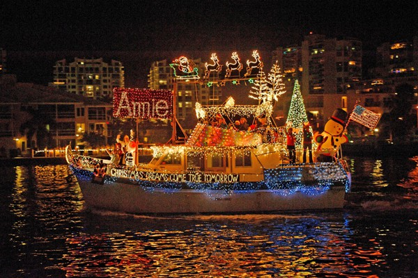 Fort Lauderdale Christmas Boat Parade.World S Largest Boat Parade 47th Annual Seminole Hard Rock