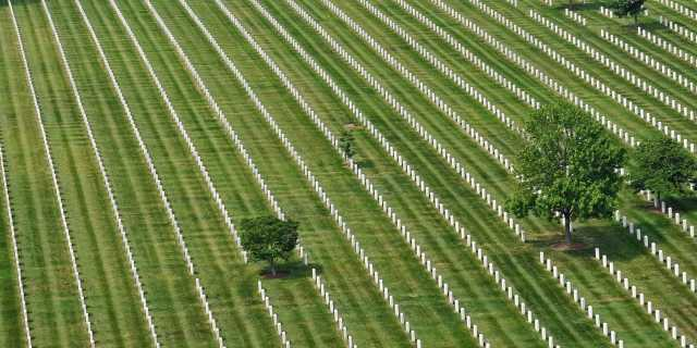 Aerial of Arlington National Cemetery