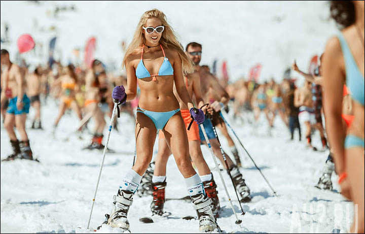 girl Bikini ski