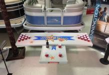 Sandbar Pontoon table and beer pong attachment