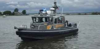Macomb county Sheriff Boat
