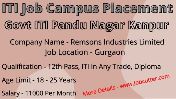 ITI Job Campus Placement In Govt ITI Pandu Nagar Kanpur