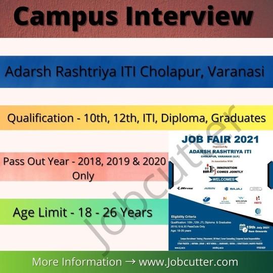 Campus Recruitment In Adarsh Rashtriya ITI