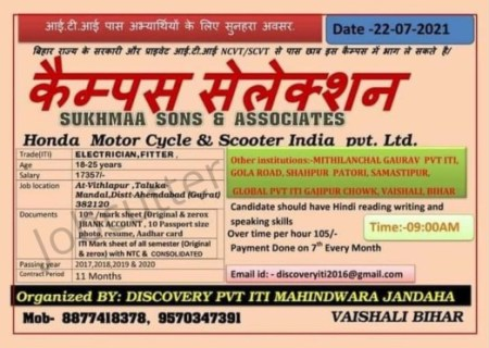 Discovery Pvt ITI Mahindwara For ITI Electrician, Fitter Campus
