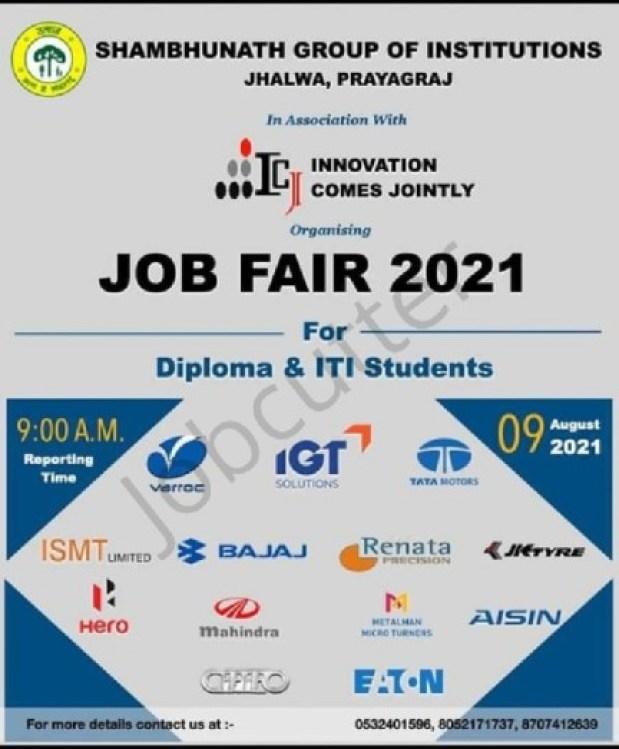 Job Fair At Shambhunath Group of Institutions Jhalwa Prayagraj