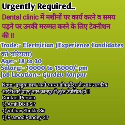 ITI Electrician Job Recruitment 2021
