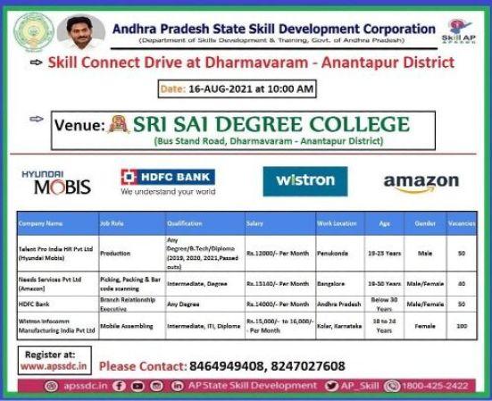 Campus Placement At Sri Sai Degree College Anantapur