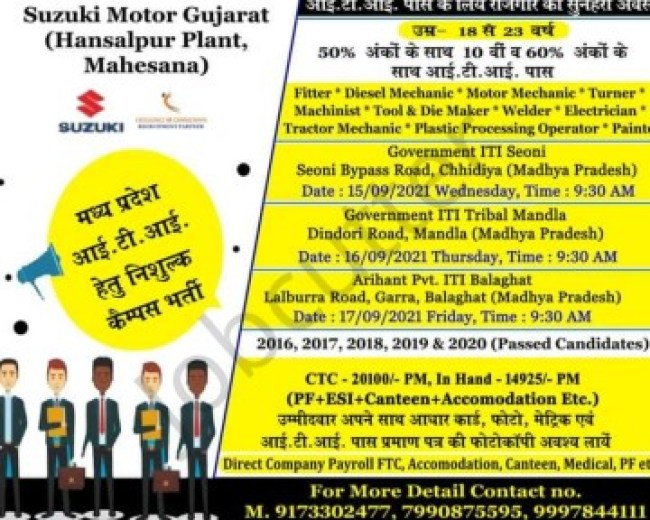 ITI Campus In Madhya Pradesh ITI Jobs Recruitment 2021
