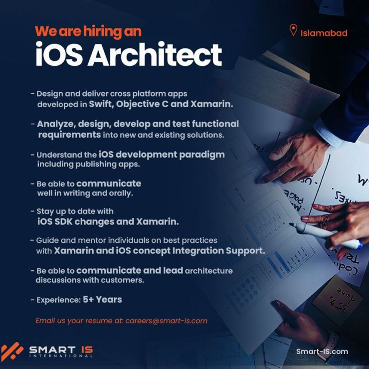 iOS Architect Job in Islamabad at Smart IS