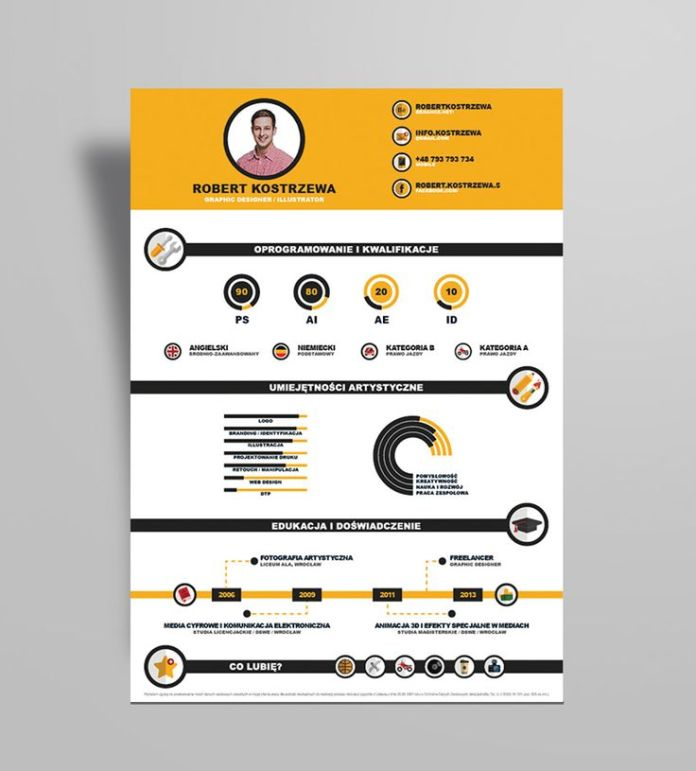 Resume Free Infographic Resume Design Template Ai File 4 - Infographic-resume