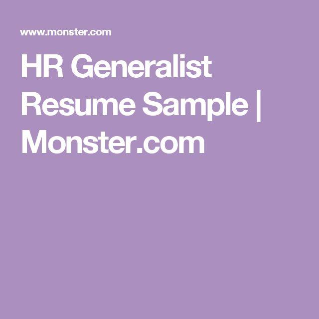 Resume HR Generalist Resume Sample JobLoving