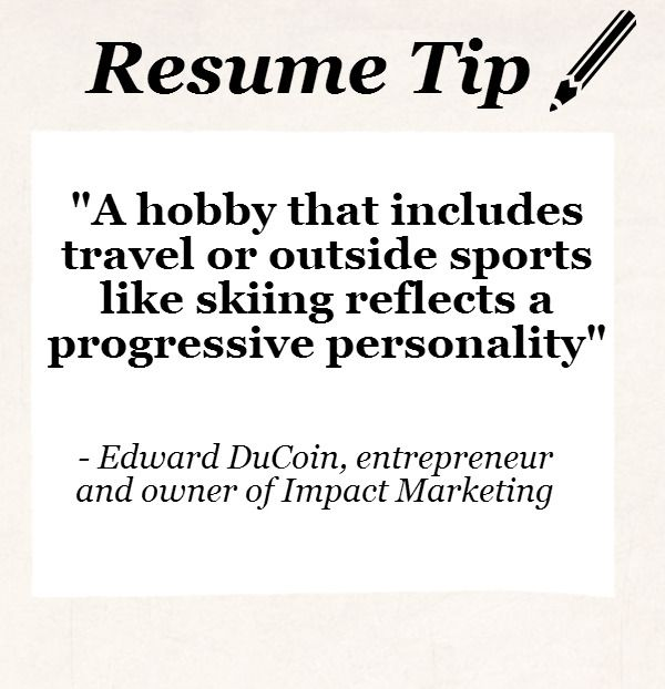 resume resume tip tuesday should you include hobbies jobloving