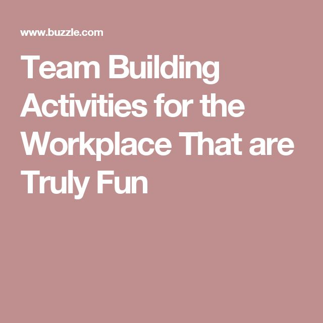 Good Team Building Games To Play At Work
