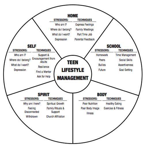 Stress Management Teen Wheel Of Life Pyschology Jobloving