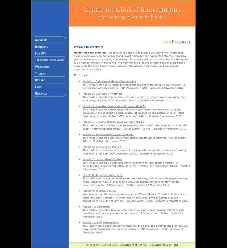 Stress Management Anxiety Cbt Worksheets Jobloving Com