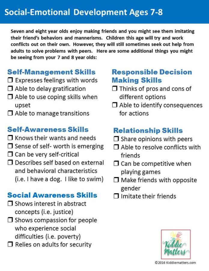 Stress Management Social Emotional Development Checklists For Kids