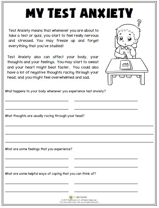 Stress management : Use this worksheet to help kids ...