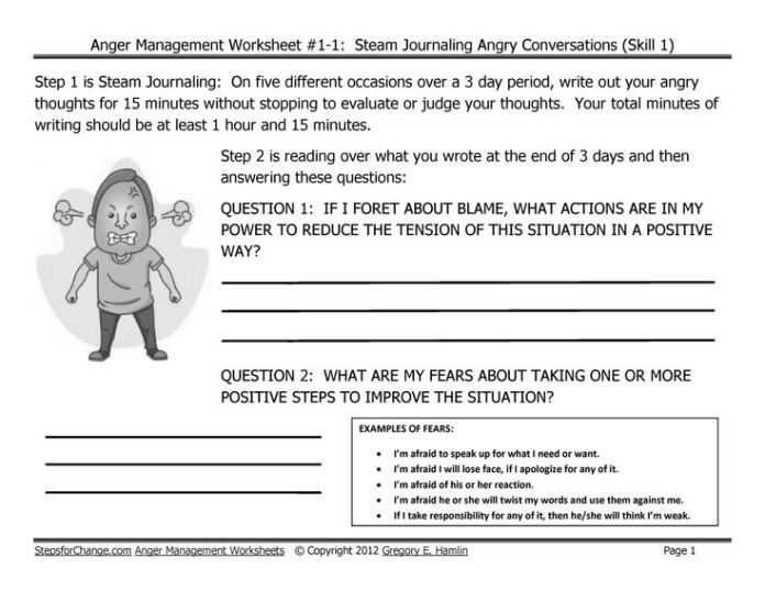 Stress management : Skill 1 Anger Management Techniques and ...