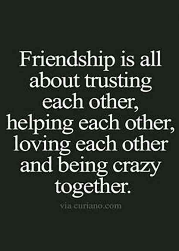 Work Quotes Friendship Is All About Trusting Each Other Helping