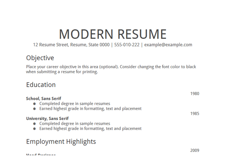 Resume Work Objective. Example Resume Sample Job Objective For