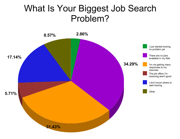 what is your biggest job search problem poll results and analysis