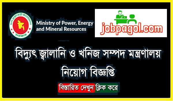 Ministry of Power Energy and Mineral Resources Job Circular 2020