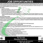 Career Opportunities in Punjab Education Foundation 2016