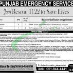 Punjab Rescue 1122 Jobs
