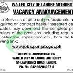 Walled City Lahore Authority Jobs