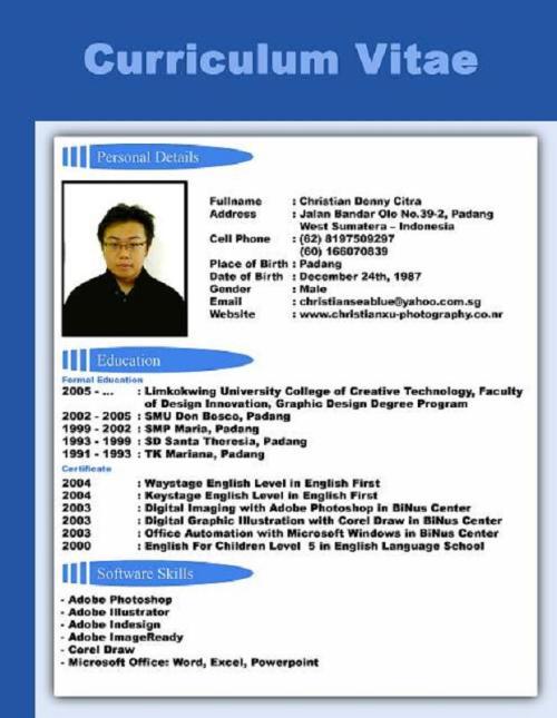 How to make a good resume - Curriculum Vitae