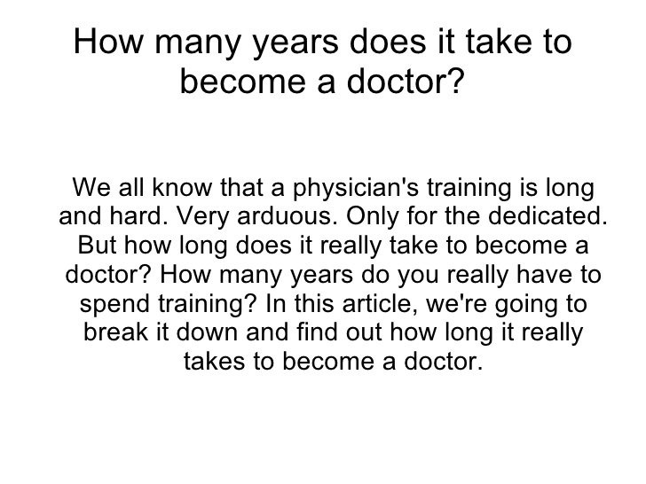 how to become a doctor | jobsamerica, Human Body