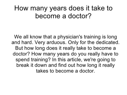 How to Become a Doctor