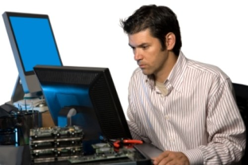 Information technology jobs - It technician at work
