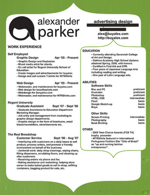 Writing A Perfect Curriculum Vitae example