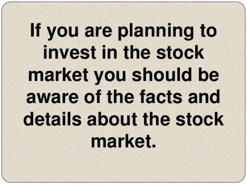 The stock market and how it works
