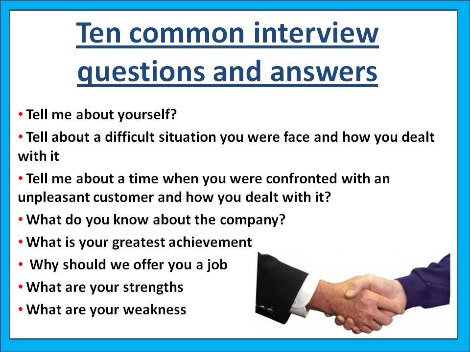 Great Common Interview Questions And Answers Regard To Common Interview Questions