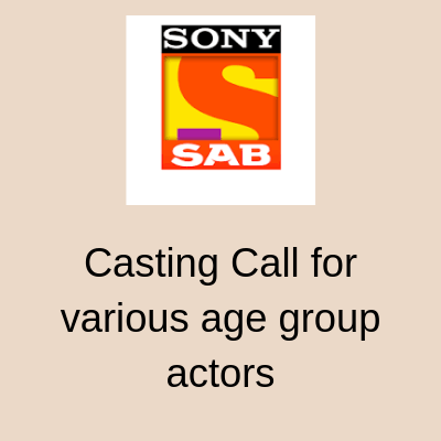 Casting Call for various age group actors