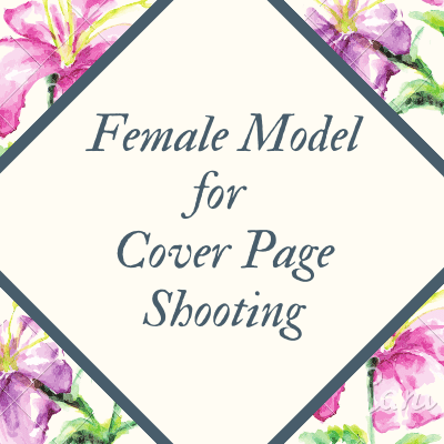 female model for cover page shooting