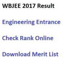 wbjee 2017 west bengal joint entrance exam check result rank scorecard marksheet online engineering wbjeeb.nic.in medical merit list