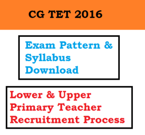 cg tet exam pattern syllabus selection process