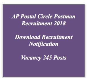ap postman recruitment 2018 andhra pradesh postal circle vacancy application form notification