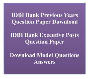 idbi executive previous paper download solved pdf solution with answer key previous years old solved model sample practice set