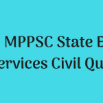 MPPSC State Engineering Services Civil Question Paper Download MCQ