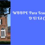 WBBPE Para Teacher Study Centre Allotment D El Ed Course College List