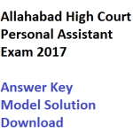 Allahabad High Court Stenographer Answer Key 2017 Driver Solution
