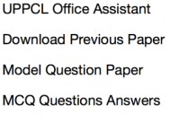 uppcl office assistant previous years question paper download solved pdf mcq questions answers oa grade 3 stenographer solved old paper