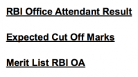 rbi office attendant result 2017 expected cut off marks merit list 2018 reserve bank of india
