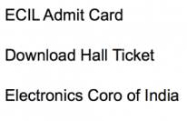 ecil admit card 2017 2018 electronics corporation of india limited hall ticket download graduate engineering trainee engineer